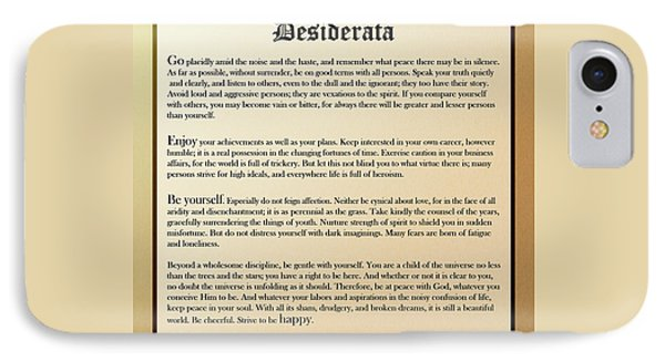 Desiderata Old English Square IPhone 7 Case