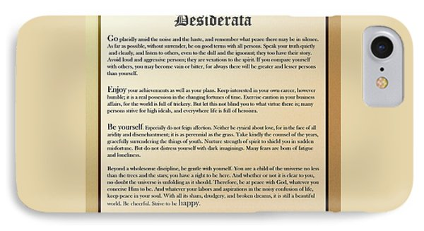 Desiderata Old English Square IPhone Case