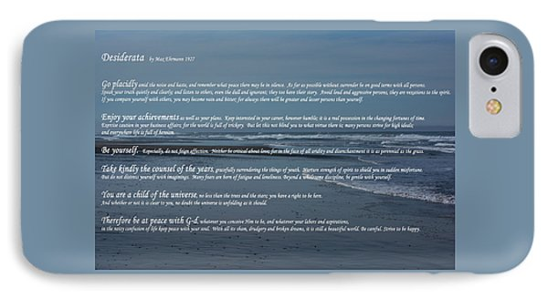 Desiderata  IPhone Case by Tikvah\'s Hope