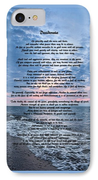 Desiderata Wisdom IPhone Case by Dale Kincaid