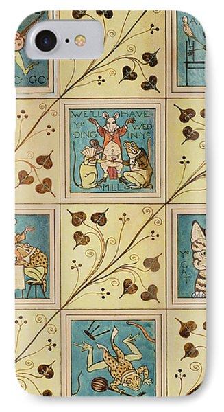 Design For Nursery Wallpaper Phone Case by Voysey