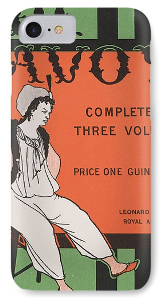 Design For The Front Cover Of 'the Savoy Complete In Three Volumes' IPhone Case by Aubrey Beardsley
