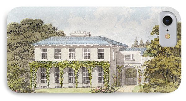 Design For The South Front Of A House IPhone Case by Humphry Repton