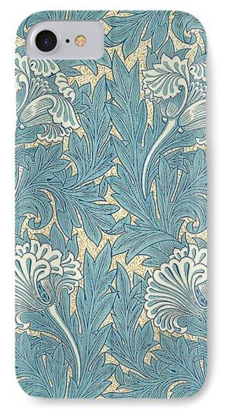 Design In Turquoise Phone Case by William Morris