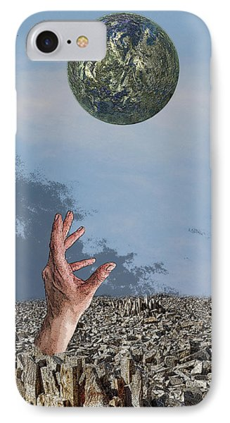 Desiring Another World IPhone Case by Angel Jesus De la Fuente