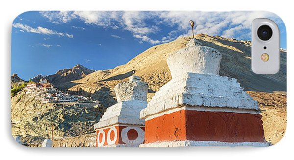 Deskit Monastery, Ladakh, India IPhone Case by Peter Adams