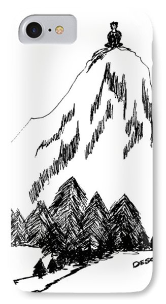 Desolation Peak_alone Time IPhone Case by Donna Haggerty