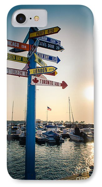 Destination Egg Harbor IPhone Case by Mark David Zahn