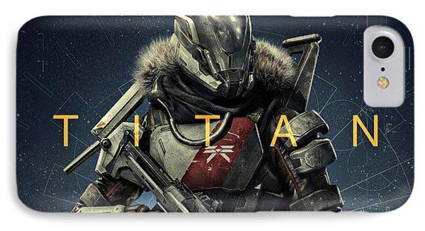 Destiny 2 Titan IPhone Case by Movie Poster Prints