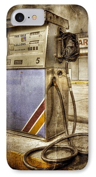 IPhone Case featuring the photograph Destrehan Gas Pump by Ray Devlin