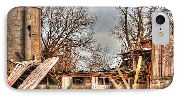 Destruction Barn Phone Case by Deborah Smolinske