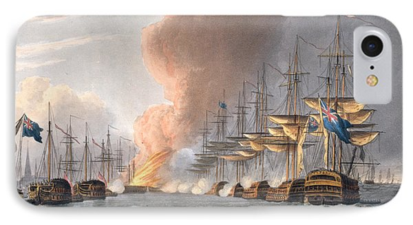 Destruction Of The Danish Fleet IPhone Case by Thomas Whitcombe