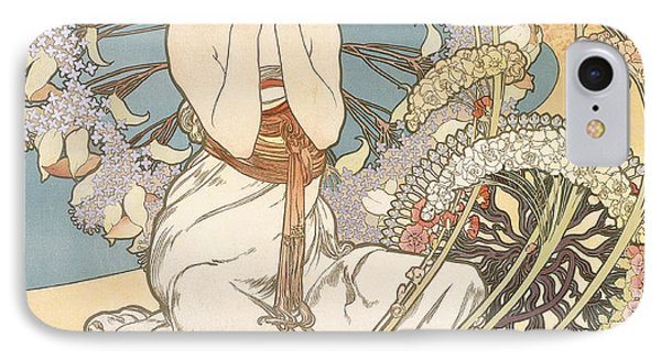 Detail From Monaco  Monte Carlo IPhone Case by Alphonse Marie Mucha