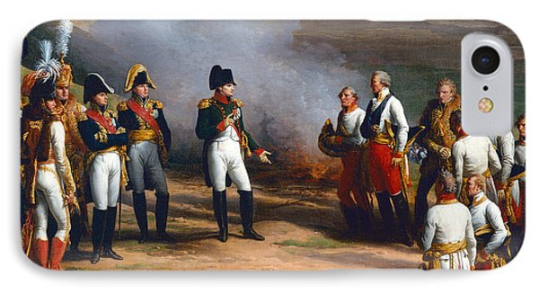 Detail From The Surrender Of Ulm, 20th October, 1805 - Napoleon And The Austrian Generals, 1815 Oil IPhone Case