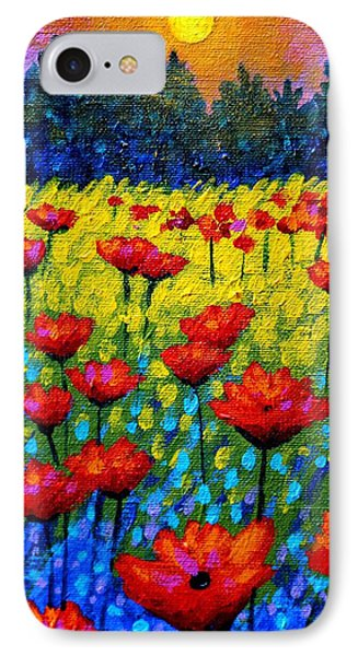 Detail From Twilight Poppies  IPhone Case by John  Nolan