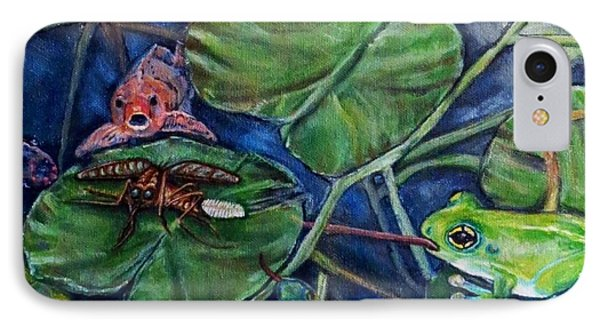 IPhone Case featuring the painting Detail Of Day Of Judgment For A Pesky Mosquito  by Kimberlee Baxter