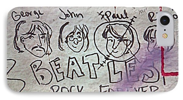 Detail Of Graffiti On Abbey Road Sign Phone Case by George Pedro