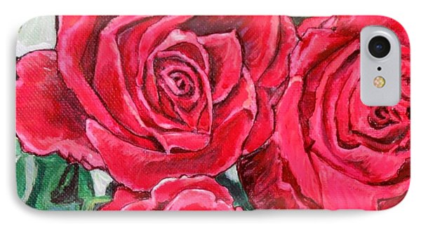IPhone Case featuring the painting Detail Of The Delight Of Grandma's Roses Painting by Kimberlee Baxter