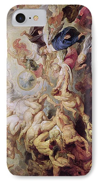 Detail Of The Last Judgement IPhone Case by Rubens