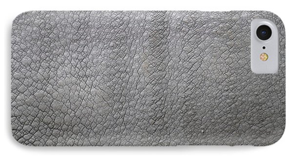 detail of the skin of an Indian rhinoceros in a zoo Netherlands Phone Case by Ronald Jansen