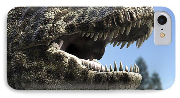 Detailed Headshot Of Tyrannosaurus Rex Phone Case by Rodolfo Nogueira