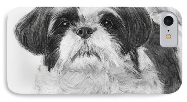 Detailed Shih Tzu Portrait IPhone Case by Kate Sumners