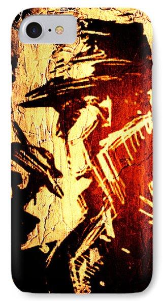 Detective Portrait IPhone Case by Andrea Barbieri