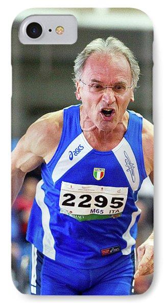 Determined Senior Athlete IPhone Case by Alex Rotas