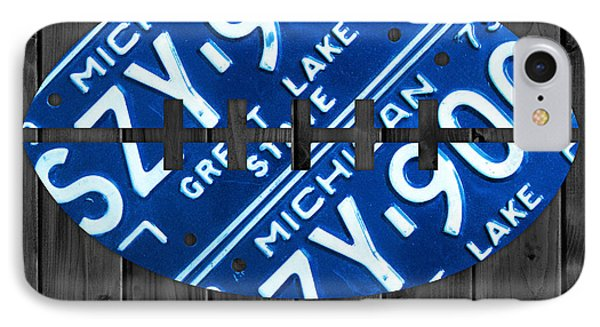 Detroit Lions Football Vintage License Plate Art IPhone Case