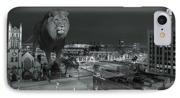 Detroit Lions IPhone Case by Nicholas  Grunas