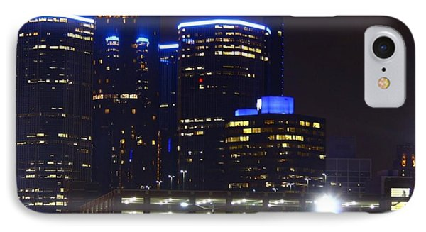 Detroit Night Scape Phone Case by Rexford L Powell