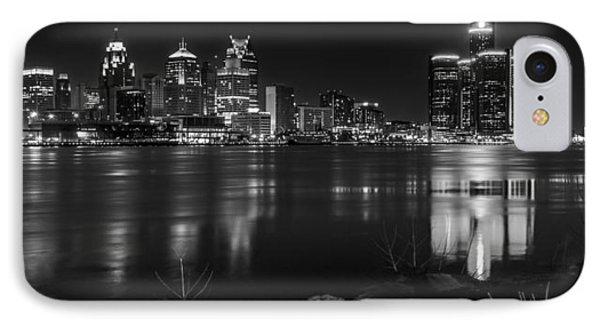 Detroit Skyline Black And White IPhone Case