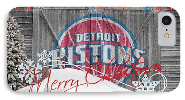 Detroit Pistons Phone Case by Joe Hamilton