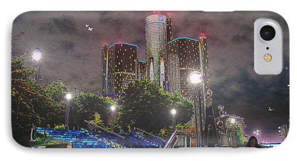 Detroit Riverwalk Phone Case by Michael Rucker