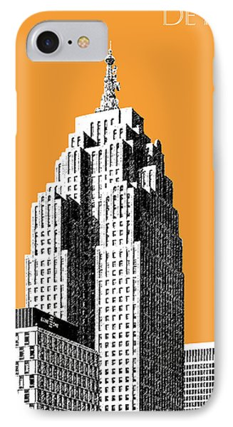 Detroit Skyline 2 - Orange IPhone Case