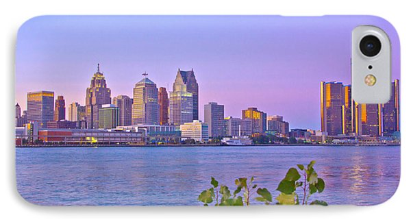 Detroit Skyline At Sunset IPhone Case