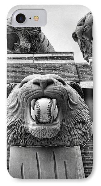 Detroit Tigers Comerica Park Tiger Statues Phone Case by Gordon Dean II