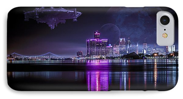 IPhone Case featuring the photograph Detroit Worlds by Nicholas  Grunas