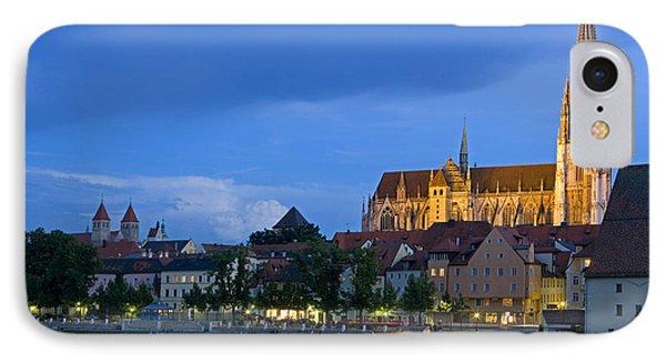 Deutschland, Regensburg, Stadtansicht IPhone Case by Tips Images