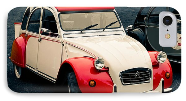 Deux Chevaux In Red And White IPhone Case by Ronda Broatch