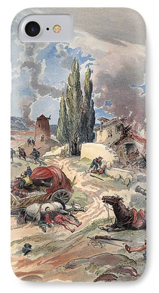 Devastation Of Provence, Illustration IPhone Case by Albert Robida