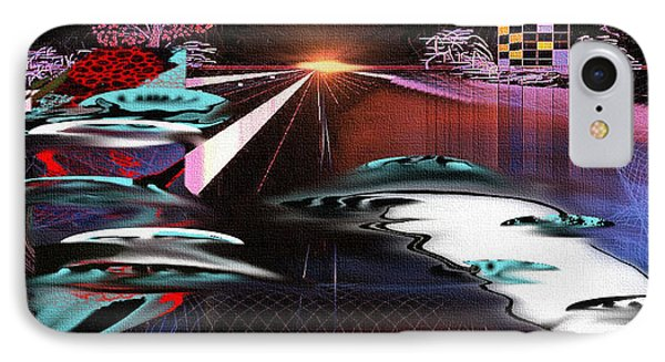 IPhone Case featuring the painting Ufo Landing by Yul Olaivar