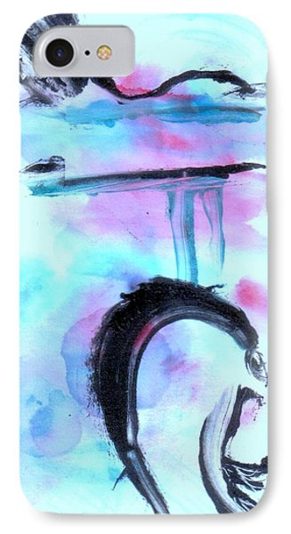 IPhone Case featuring the painting Devil Dance by Lesley Fletcher