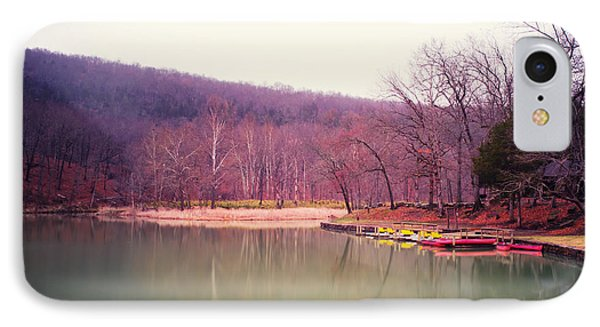 Devil's Den Lake And Canoes IPhone Case by Tanya Harrison