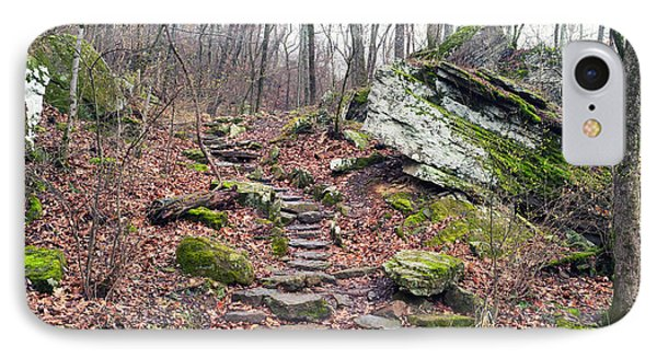 Devil's Den Stone Stairs In Autumn IPhone Case by Tanya Harrison