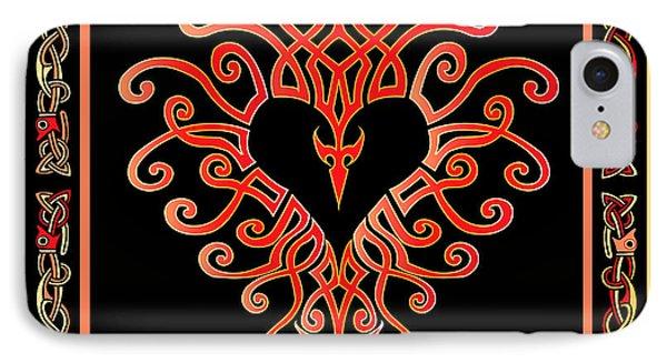 IPhone Case featuring the digital art Devil's Heart by Vagabond Folk Art - Virginia Vivier