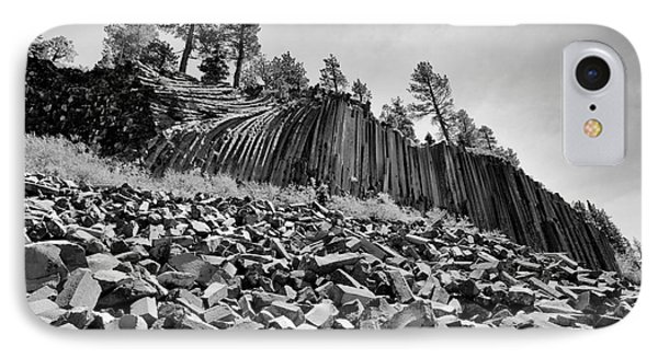 Devils Postpile National Monument IPhone Case by Terry Garvin
