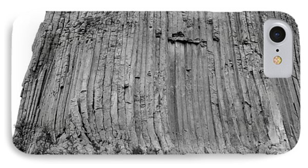 Devils Tower National Monument 3 Bw IPhone Case by Elizabeth Sullivan