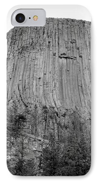 Devils Tower National Monument Bw IPhone Case by Elizabeth Sullivan