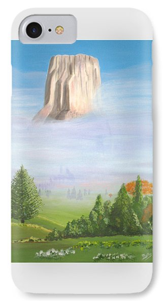 IPhone Case featuring the painting Devil's Tower  by Phyllis Kaltenbach